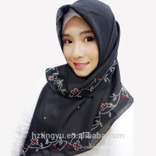 Eid al-Adha muçulmano moda pedra de voile impresso simples mulheres xale cachecol hijab