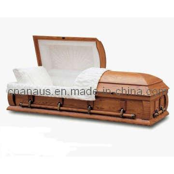 E.U. estilo cinza sólido madeira caixão 40h 0013