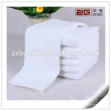 100% хлопок равнина тканые полотенца Дешевые пользовательские Белый лицо полотенце