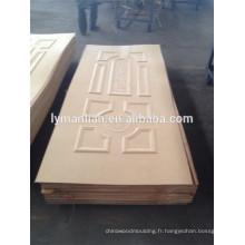Peau de porte en mélamine / peau de porte moulée / peau de porte HDF pour portes intérieures