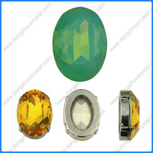 Pedras De Cristal Oval Opala Verde Beads Jóias