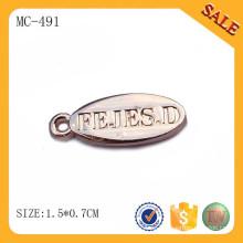 MC491 letra inicial personalizada sellado encanto de joyas de oro oval etiquetas encanto colgante
