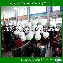 Désinfectant pour l'environnement public Dioxyde de chlore provenant du fournisseur chinois