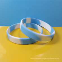 Swirl color silicon wristband, Rainbow color silicon bracelet, Camo rubber bracelet