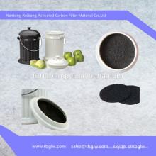 fabricación de filtro de carbón activado filtro de medios activado por carbón para el compartimento de la ventana con aire acondicionado y refriger Filtro de aire de la cabina de carbono