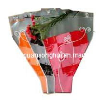 Mangas de flores de plástico personalizado / hojas de flores / mangas de flores de corte