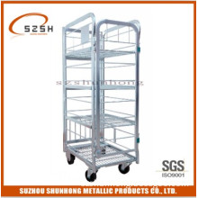 Dairy Trolley with 2 Fixed Wheels, and 2 Swivel Casters