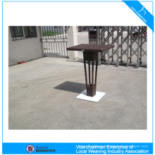 Modern rattan wicker aluminum poly bar table
