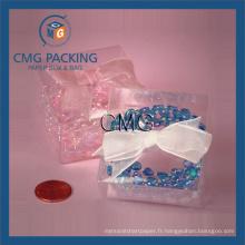 Boîte à emballage cadeau transparent pour bijoux (CMG-PVC-005)