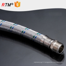 B17 en acier inoxydable flexible tressé tuyau métallique tuyau de gaz tressé