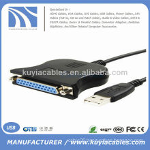 USB to DB25 Female Port Print LPT Cable