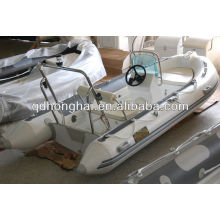 casco de fibra de vidrio de lujo barco de la costilla HH-RIB390 con CE