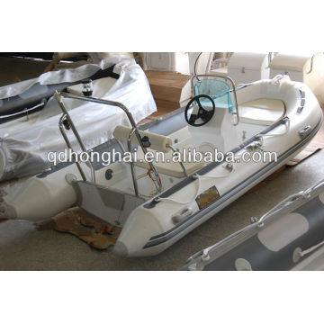 Coque de luxe en fibre de verre bateau nervure HH-RIB390 avec CE