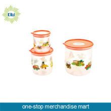 plastic cookie jar set