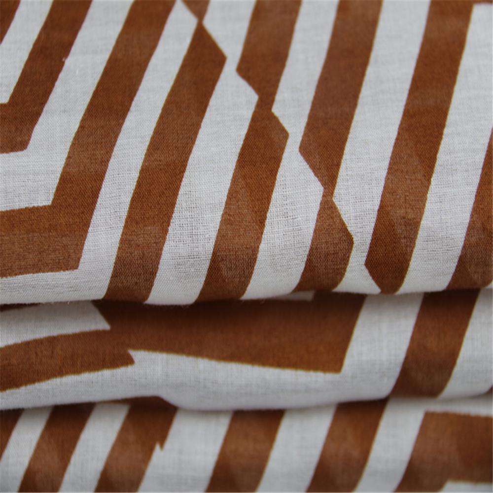 Stripe printed voile