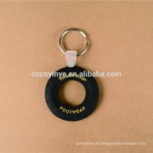 Personalizado promoção presente PVC pneu chaveiro