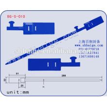 selos de cédula BG-S-010, selos de segurança de plástico