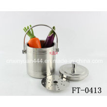 Stainless Steel Ice Pail with Tongs (FT-0413)