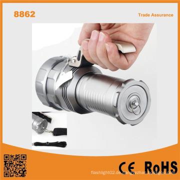 8862 10W T6 Birne 1000 Lumen LED wiederaufladbare Suchscheinwerfer