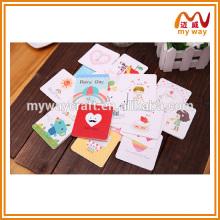 Оптовые продукты фабрики карточки handmade мультфильма, миниый карточка дня рождения