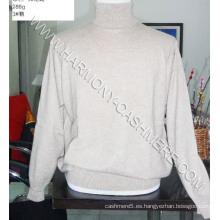 Suéter de cuello alto de cachemir para hombres (HM-SW09015)