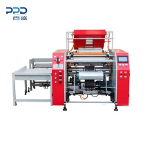 China Supplier Fully Automatic 3 Shaft Rewinding Machine For Stretch Warp Film