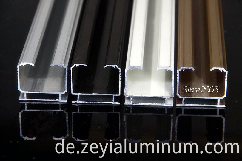 Various Surface Curtain Track Aluminum Profiles