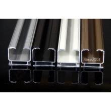 Coloridos perfiles de aluminio 6063-T5 de cortina invisible.