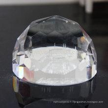 Presse-papier de cristal de laser de cristal de K9 cristal 3D