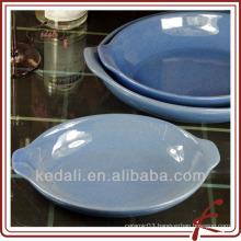 Crack glaze ceramic comal with 3 size