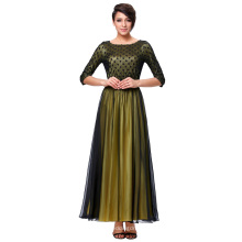 Kate Kasin 3/4 manga cuello de cuello vestido de fiesta vestido de fiesta de baile KK000214-1