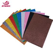 High quality kids crafts scrapbook back glue adhesive glitter non toxic plush eva foam sheet