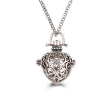 Coeur en acier inoxydable pendentif médaillon pendentif aromathérapie huile essentielle collier