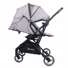 Carrinho de passeio de passeio de passeio de bebê infantil conforto de dobramento fácil em paisagem alta