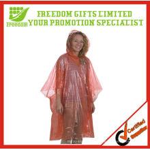 Logotipo de precio más barato Impreso Poncho de plástico transparente de calidad superior
