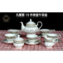 teaset bulk thin wave cup& saucer bone china