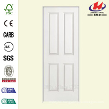 30 in. x 80 in. Solidoor Smooth 4-Panel Square Solid Core Primed Composite Single Prehung Interior Door