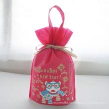 Bolsa de embalaje de regalo de año nuevo con león bailando