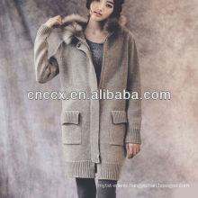 13STC5094 ladies long hooded cardigan sweater