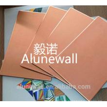 Panel compuesto exterior CCP de la pared exterior de cobre de Alunewall con gran precio