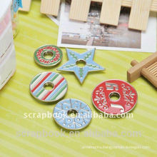 painted metal snap buttons