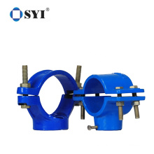 PP PE Compression Pipe Fitting Double Male Saddle Clamp for Water Supply