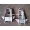 linha de transmissão elétrica do pólo da utilidade de poder acessórios de metal aéreo da linha de transmissão elétrica