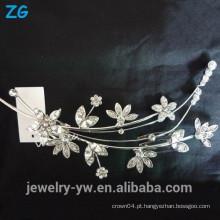 Linda flor de cristal nupcial pente cabelo jóia pente pente cabelo cabelo acessórios atacado china