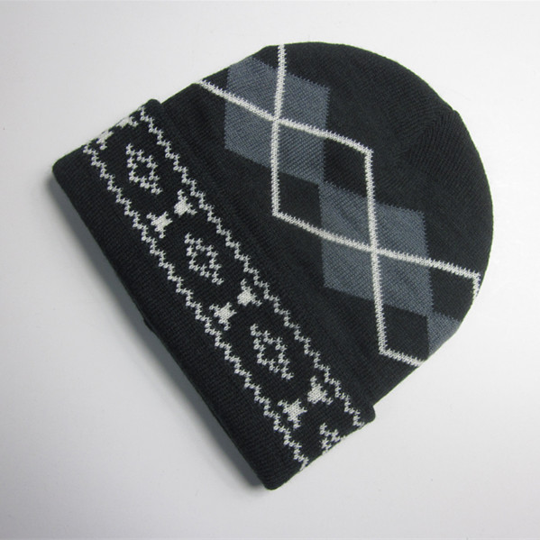 Men Classic Jacquard Winter Hat