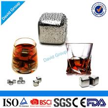 Zertifizierter Spitzenlieferant-kundenspezifischer Whisky-Stein-Satz von 4 Stück mit kundengebundenem Logo
