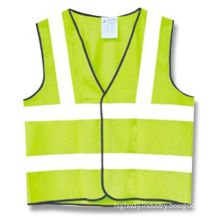 High Visibility Vest, Made of 100% Warp Knitted Polyester Cloth, Available in Lemon Yellow