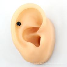 High Polished Fashion ASTM F136 Titanium Opal cluster ear helix earring for women