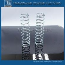 Resorte de alta calidad de la compresión del cinc del color de encargo del fabricante de China