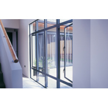 Grey Gross Surface Double Glass Aluminium Glass Windows